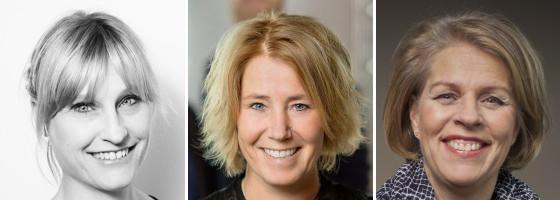 Emma Jonsteg, Johanna Frelin och Monica von Schmalensee. Bild: Fastighetssverige