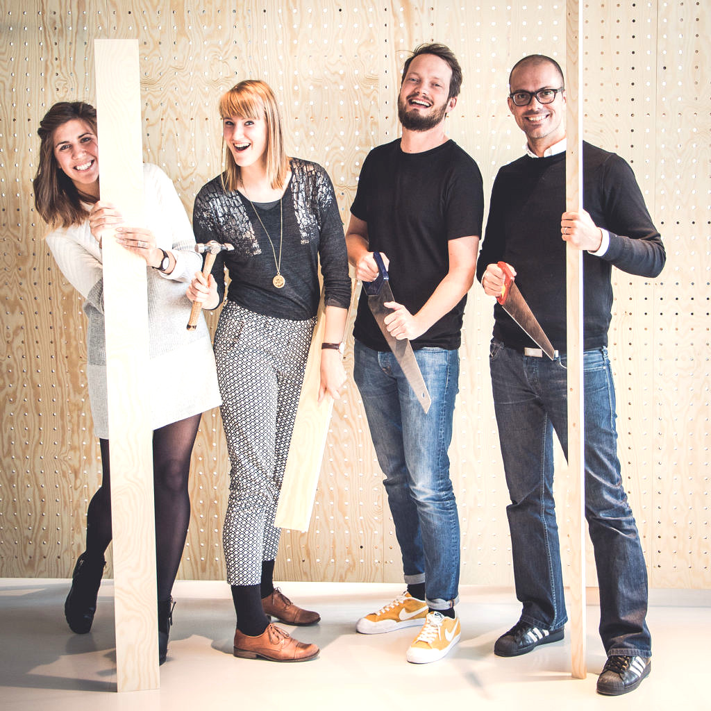 Nejra Lagumdzija, Alexandra Gaarup Vink, Axel Hermansson och Henrik Börjesson.