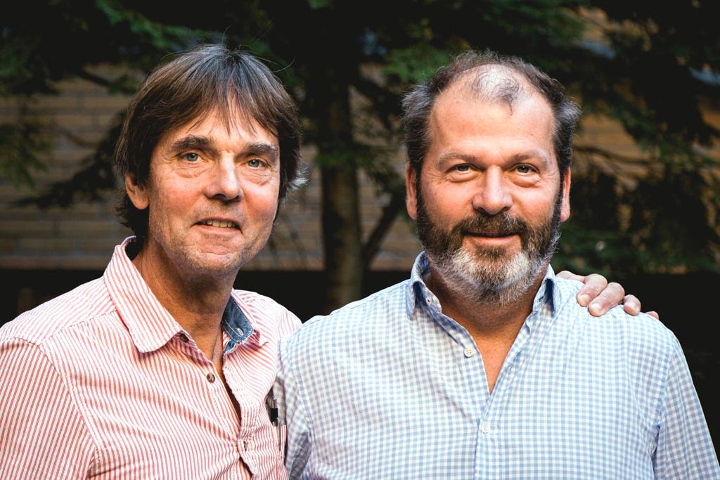 Fritz Olausson och Magnus Almung, arkitekterna bakom bland annat Alingsås Tingsrätt.