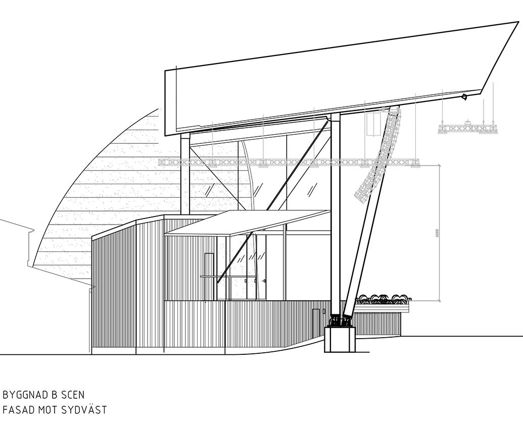 Sollidenscenen sida ritning