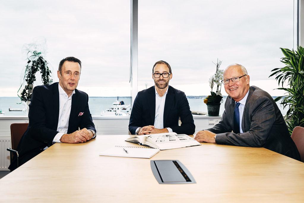 Från vänster: Thomas Bråhagen, regionchef Wihlborgs, Nicholas Hörlin, kontorschef Tengbom Öresund och Anders Jarl, vd Wihlborgs. Foto: Peter Westrup